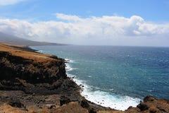 ostkust av Maui Arkivbild