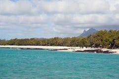 Ostkusten av Mauritius Royaltyfria Bilder