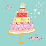 ostliknande cake vektor illustrationer