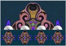 Ostmuster der blauen Bälle - die Sprache der Seele Stockfoto