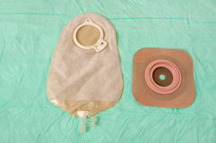 Ostomy bag and seal Royalty Free Stock Image