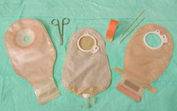 Ostomy bag selection Stock Photos
