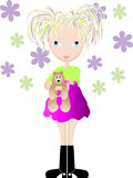 ostra dziewczyna Zdjęcie Stock