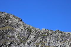 Ostra krawędź na Blencathra w Angielskim Jeziornym okręgu Zdjęcia Stock