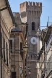 Ostra-Märze, Italien am Morgen Stockbilder