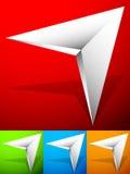 Ostra zirytowana 3d strzałkowata ikona w więcej kolorze z skosu skutkiem Zdjęcia Stock
