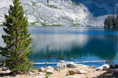 Ostrander Lake. Scenic view of Ostrander Lake in Yosemite National Park, California, U.S.A Stock Photo