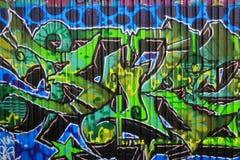 OSTRAVA, RÉPUBLIQUE TCHÈQUE - 10 AVRIL : Milada Horakova Park depuis les années 1990 a rempli par le graffiti abstrait de couleur Photographie stock libre de droits