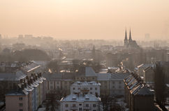 Ostrava in smog Stock Photography