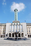 Ostrava town hall. Square outlook Royalty Free Stock Images
