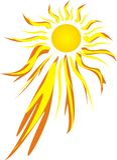 ostre gorące słońce Fotografia Stock
