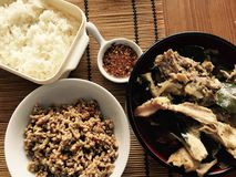 ostre jedzenie thai Obrazy Stock