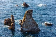 Ostre wysepki Hiszpanii asturii Zdjęcie Stock