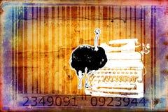 Ostrich barcode animal design art idea Stock Image