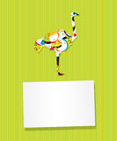 Ostrich card Stock Image