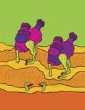 Ostrich cartoon Stock Photography