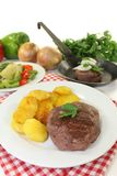 Ostrich steaks Stock Photography