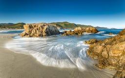 Ostriconi海滩在北部可西嘉岛 免版税库存照片
