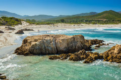 Ostriconi Beach in north Corsica Royalty Free Stock Photography