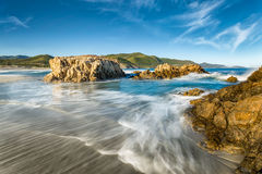 Ostriconi beach in northern Corsica Stock Images