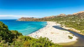 Ostriconi plaża w Balagne regionie Corsica Fotografia Royalty Free