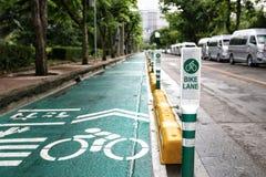 Ostrość roweru pasa ruchu znaka słup Obraz Royalty Free