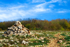 ostrości lensbaby nadplanowego ostrosłupa selekcyjny kamienia wierzchołek Zdjęcia Royalty Free
