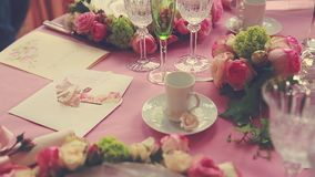 ostrości szkieł stołowy ślub zbiory wideo