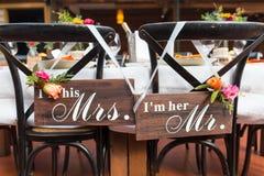 ostrości szkieł stołowy ślub zdjęcia royalty free