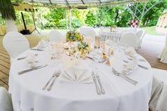 ostrości szkieł stołowy ślub zdjęcie royalty free