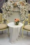 ostrości szkieł stołowy ślub Zdjęcie Stock