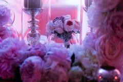 ostrości szkieł stołowy ślub Fotografia Stock