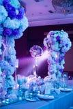 ostrości szkieł stołowy ślub Obrazy Stock
