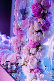 ostrości szkieł stołowy ślub Obraz Royalty Free