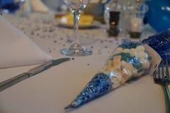 ostrości szkieł stołowy ślub Obrazy Royalty Free