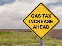 Ostrożność - podatku paliwowego wzrost Naprzód Fotografia Stock