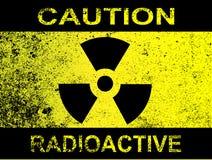 Ostrożność Promieniotwórczy znak Fotografia Royalty Free