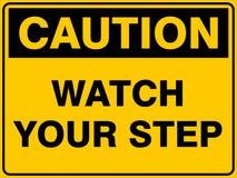 Ostrożność zegarek Twój krok ilustracja wektor