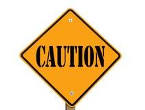 ostrożność znak odosobniony drogowy Zdjęcie Royalty Free