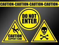 ostrożność znaki Zdjęcie Royalty Free
