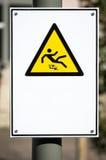 Ostrożności podłoga mokry znak Zdjęcia Royalty Free
