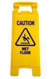 ostrożności podłoga znak mokry zdjęcia stock