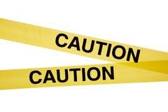 ostrożności taśmy biel kolor żółty Zdjęcia Stock