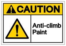 Ostrożności wspinaczki farby symbolu znak, Wektorowa ilustracja, Odizolowywa Na Białej tło etykietce EPS10 ilustracja wektor
