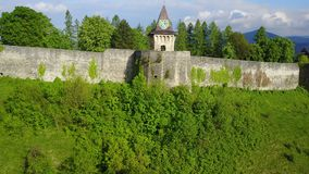 Ostrožac Castle. Is a castle located in Bosnia and Herzegovina in the Una-Sana Canton just outside the town of Cazin, near the village of Ostrožac. The castle Stock Image