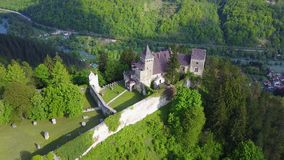 Ostrožac Castle. Is a castle located in Bosnia and Herzegovina in the Una-Sana Canton just outside the town of Cazin, near the village of Ostrožac. The castle Stock Photos