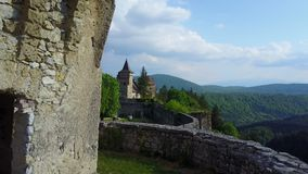 Ostrožac Castle. Is a castle located in Bosnia and Herzegovina in the Una-Sana Canton just outside the town of Cazin, near the village of Ostrožac. The castle Royalty Free Stock Images