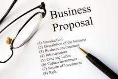 ostrości biznesowa propozycja Zdjęcia Stock