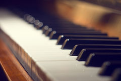 ostrości kluczowy jeden klawiatury fortepianowy selekcyjny Zdjęcie Stock