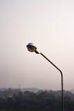 Ostrości lamppost wieczór Zdjęcia Royalty Free